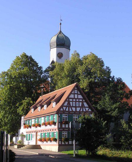 Westerheim Dorfansicht mit Kirche